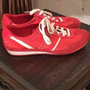 Coach Marabelle Red Signature Suede Canvas   Shoes